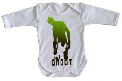 Roupa Bebê manga longa Rocket Groot sombras
