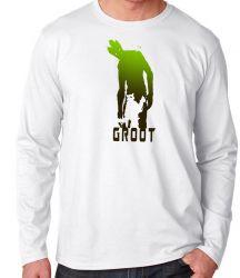 Camiseta Manga Longa Rocket Groot sombras