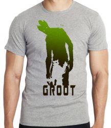 Camiseta Infantil Rocket Groot sombras