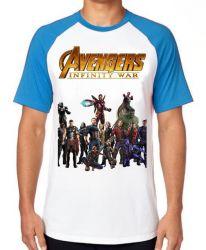 Camiseta Raglan Vingadores Guerra Infinita