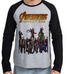 Camiseta Manga Longa Vingadores Guerra Infinita