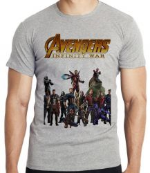 Camiseta Infantil Vingadores Guerra Infinita