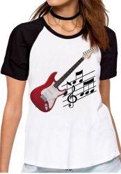 Blusa Feminina Guitarra Instrumento