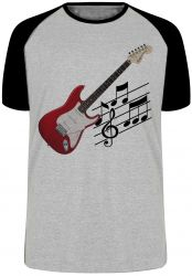 Camiseta Raglan Guitarra Instrumento