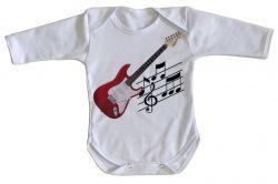 Roupa Bebê manga longa Guitarra Instrumento