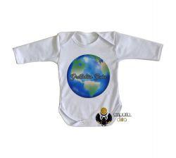 Roupa Bebê manga longa Gratidão Gaia