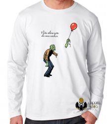 Camiseta Manga Longa Não abra mão de seus sonhos