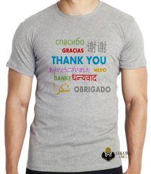 Camiseta Obrigado em diferentes línguas