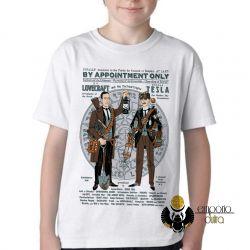 Camiseta Infantil Tesla Lovecraft