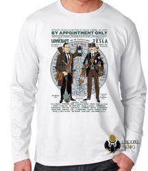 Camiseta Manga Longa Tesla Lovecraft