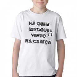 Camiseta Infantil Estocar vento
