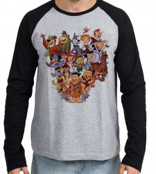 Camiseta Manga Longa Hanna Barbera personagens