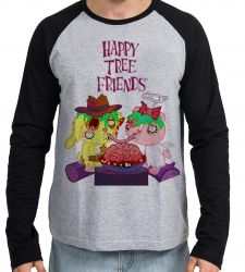 Camiseta Manga Longa Happy Tree Friends Spaguetti