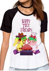 Blusa Feminina Happy Tree Friends Spaguetti