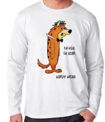 Camiseta Manga Longa Hanna Barbera Hardy Hiena