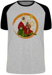 Camiseta Raglan He-Man e Gato Guerreiro