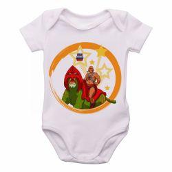 Roupa  Bebê  He-Man e  Gato Guerreiro