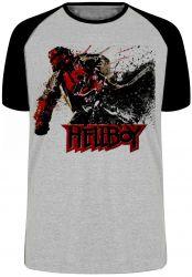 Camiseta Raglan HellBoy Pistol
