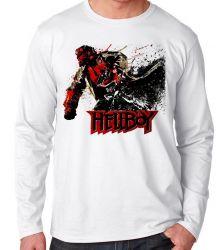 Camiseta Manga Longa HellBoy Pistol