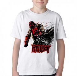 Camiseta Infantil HellBoy Pistol