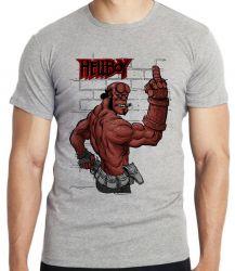 Camiseta Infantil HellBoy dedo
