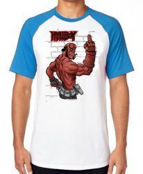 Camiseta Raglan HellBoy dedo