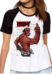 Blusa Feminina  HellBoy dedo