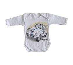 Roupa Bebê manga longa Herbie 1968
