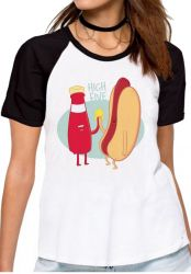 Blusa Feminina Salsicha hot dog high five