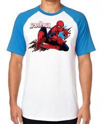 Camiseta Raglan Homem Aranha teia