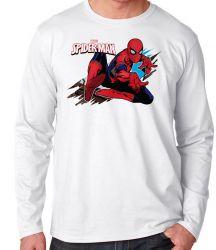 Camiseta Manga Longa Homem Aranha teia