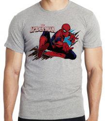 Camiseta Infantil Homem Aranha teia