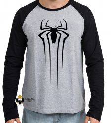 Camiseta Manga Longa Homem Aranha Venom