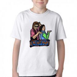 Camiseta Infantil Homem da Califórnia personagens