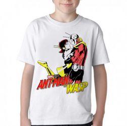 Camiseta Infantil Homem Formiga e a Vespa