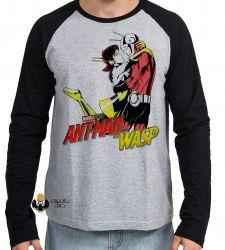 Camiseta Manga Longa Homem Formiga e a Vespa