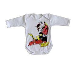 Roupa Bebê manga longa Homem Formiga e a Vespa