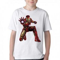 Camiseta Infantil Homem de Ferro ataque