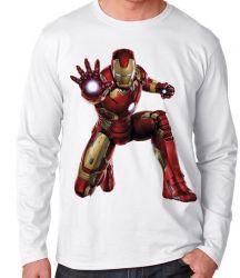 Camiseta Manga Longa Homem de Ferro ataque