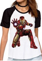Blusa Feminina Homem de Ferro ataque