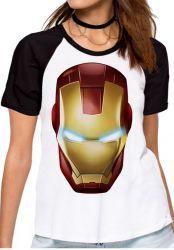 Blusa Feminina Homem de Ferro máscara