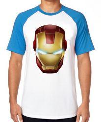 Camiseta Raglan Homem de Ferro  máscara
