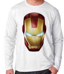 Camiseta Manga Longa Homem de Ferro  máscara