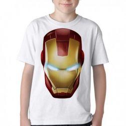 Camiseta Infantil Homem de Ferro  máscara