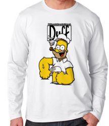 Camiseta Manga Longa Homer Simpsons Popeye