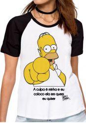 Blusa Feminina Homer Simpsons A culpa
