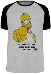 Camiseta Raglan Homer Simpsons A culpa