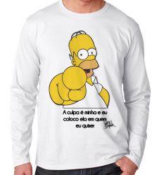 Camiseta Manga Longa Homer Simpsons A culpa