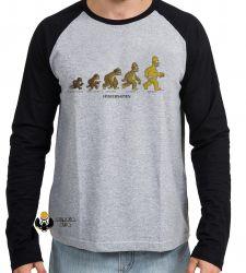 Camiseta Manga Longa Homer Simpsons Sapien