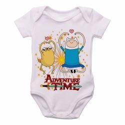 Roupa  Bebê  Adventure Time Jake Finn corações